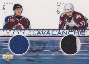 Stanley Cup Finals Double Jersey Alex Tanguay, Chris Drury