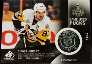 Stanley Cup Finals Game Used Pucks Sidney Crosby