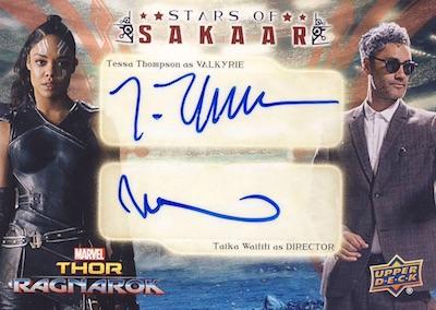 Stars of Sakaar Dual Autos Tessa Thompson as Valkyrie, Taika Waititi as Director