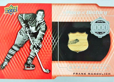A Piece of History 1000 Point Club Frank Mahovlich