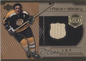 A Piece of History 500 Goal Club Phil Esposito