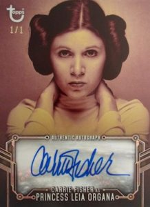 Autographs Color SP Carrie Fischer