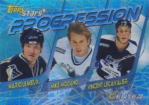 Progression Mario Lemieux, Mike Modano, Vincent Lecavalier