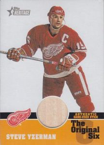 The Original 6 Relics - Stick Steve Yzerman