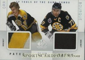Tools of the Game Combo Patch Bobby Orr, Ray Bourque