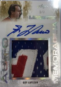 Ultimate Auto Memorabilia Guy Lafleur