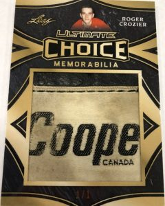Ultimate Choice Memorabilia Roger Crozier