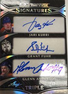 Ultimate Signatures 3 Jari Kurri, Grant Fuhr, Glenn Anderson