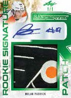 Ultimate Rookie Signature Patch Nolan Patrick