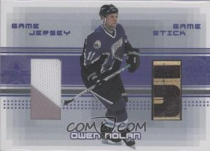Game-Used Jersey and Stick Own Nolan