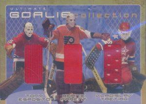 Goalie Memorabilia Tony Esposito, Bernie Parent, Vladislav Tretiak
