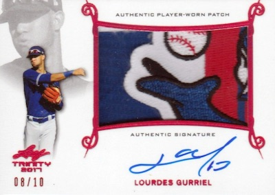 Patch Autographs Lourdes Gurriel