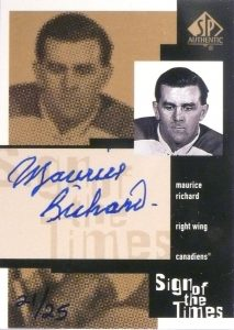 Sign of the Times Gold Maurice Richard
