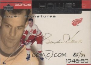 Super Signatures Gordie Howe