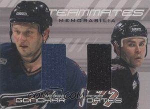Teammates Sergei Gonchar, Adam Oates