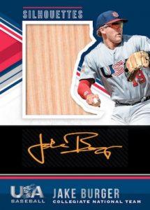 USA Baseball National Team Silhouettes Black Gold Bats Jake Burger