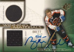 Winning Materials Autographs Brett Hull