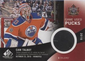 2016 NHL Heritage Classic Game-Used Puck Cam Talbot