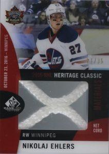 2016 NHL Heritage Classic Material Net Cord Nikolaj Ehlers