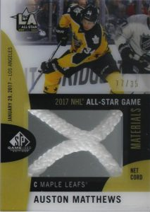 2017 NHL All-Star Game Material Net Cord Auston Matthews