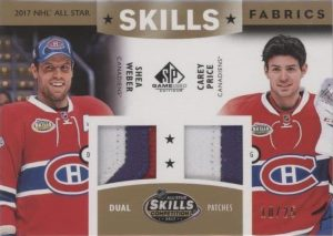 2017 NHL All-Star Skills Fabrics Dual Patch Carey Price, Shea Weber