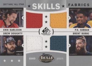 2017 NHL All-Star Skills Fabrics Quad Erik Karlsson, P.K. Subban, Drew Doughty, Brent Burns