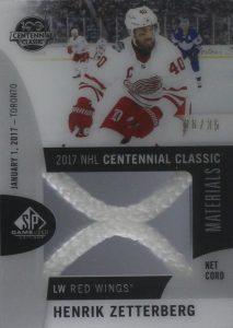 2017 NHL Centennial Classic Material Net Cord Henrik Zetterberg