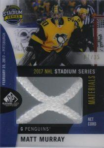 2017 NHL Stadium Series Material Net Cord Matt Murray