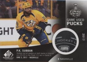 2017 NHL Stanley Cup Finals Game-Used Puck P.K. Subban