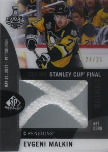 2017 NHL Stanley Cup Finals Material Net Cord Evgeni Malkin