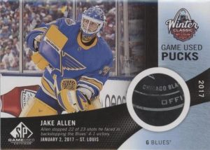2017 NHL Winter Classic Game-Used Puck Jake Allen