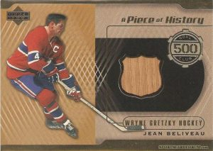 A Piece of History 500 Goal Club Jean Beliveau
