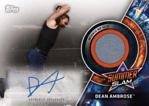 Autographed Summer Slam Mat Relics Dean Ambrose