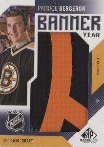 Banner Year 2003 NHL Draft Patrice Bergeron