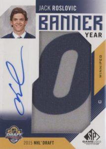 Banner Year Autographs 2015 NHL Draft Jack Roslovic