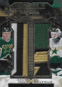 Double XL Duos Materials Patch Brett Hull, Ed Belfour