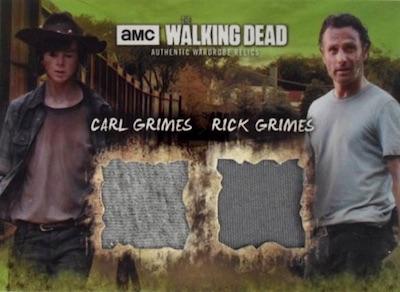 Dual Costume Relics Carl Grimes, Rick Grimes