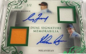 Dual Signature Memorabilia Greg Maddux, Nolan Ryan