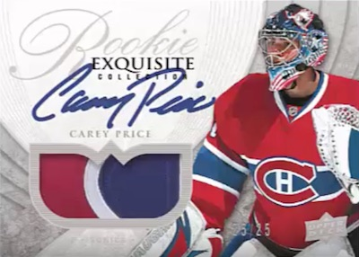 Exquisite 2007-08 Tribute Carey Price