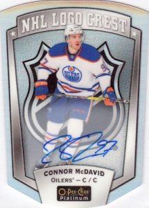OPC Platinum Update NHL Logo Crest Autograph Connor McDavid