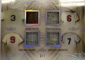 Pearl 4 Babe Ruth, Stan Musial, Ted Williams, Mickey Mantle