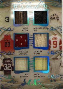 Pearl 6 Babe Ruth, Muhammad Ali, Michael Jordan, Gordie Howe, Jim Brown, Jack Nicklaus