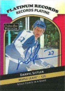 Platinum Records Autograph Darryl Sittler