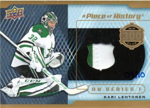 A Piece of History 300 Win Club Patch Kari Lehtonen