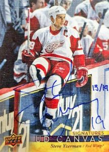 Canvas Signatures Steve Yzerman