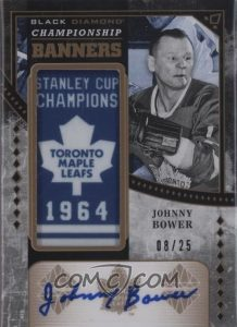 Championship Banners Gold Auto Johnny Bower