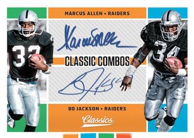Classic Combos Signatures Marcus Allen, Bo Jackson