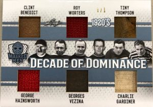 Decade of Dominance Clint Benedict, Roy Worters, Tiny Thompson, George Hainsworth, Georges Vezina, Charlie Gardiner