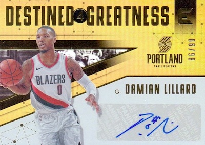 Destined for Greatness Signatures Damian Lillard