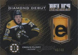 Diamond Debut Relics Charlie McAvoy